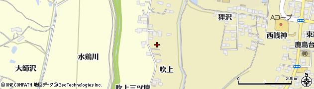 宮城県大崎市鹿島台平渡(吹上)周辺の地図