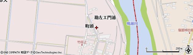 宮城県大崎市鹿島台木間塚(勘左エ門浦)周辺の地図
