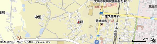 宮城県大崎市鹿島台平渡(上戸)周辺の地図