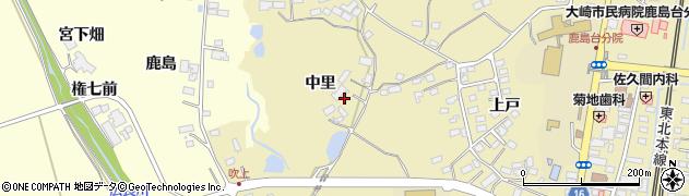 宮城県大崎市鹿島台平渡(中里)周辺の地図