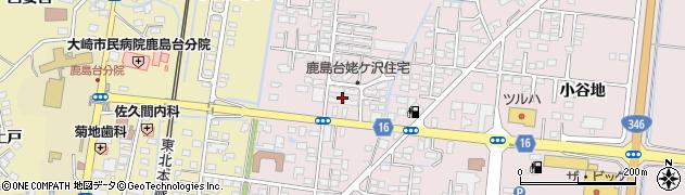 宮城県大崎市鹿島台木間塚(姥ケ沢)周辺の地図