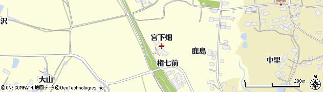 宮城県大崎市鹿島台広長(宮下畑)周辺の地図