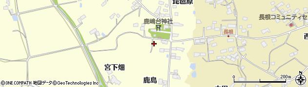 宮城県大崎市鹿島台広長(鹿島)周辺の地図