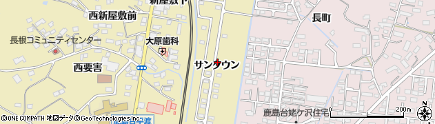 宮城県大崎市鹿島台平渡(サンタウン)周辺の地図