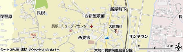 宮城県大崎市鹿島台平渡(西宮ノ沢)周辺の地図