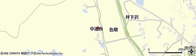 宮城県大崎市鹿島台広長(中道西)周辺の地図