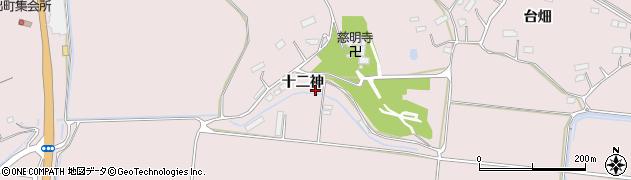 宮城県大崎市鹿島台木間塚(十二神)周辺の地図
