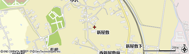 宮城県大崎市鹿島台平渡(新屋敷)周辺の地図