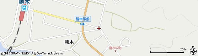 勝木三差路周辺の地図