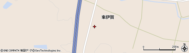 宮城県大崎市三本木伊賀(東伊賀)周辺の地図