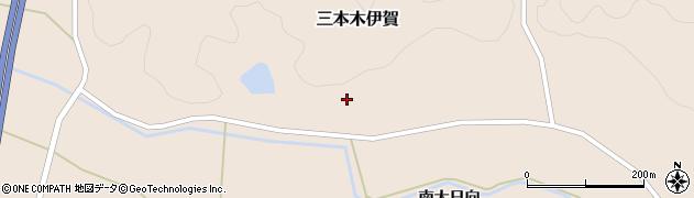 宮城県大崎市三本木伊賀(中野)周辺の地図