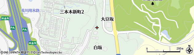 宮城県大崎市三本木周辺の地図