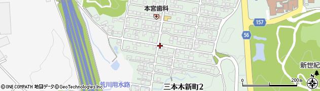 宮城県大崎市三本木新町周辺の地図
