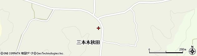 宮城県大崎市三本木秋田(東沢下)周辺の地図