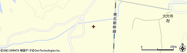 宮城県大崎市三本木桑折(団子森)周辺の地図
