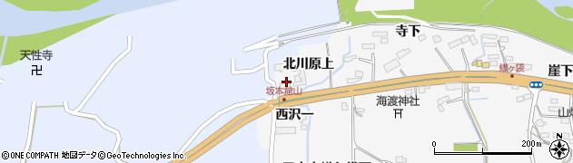 宮城県大崎市三本木蟻ケ袋(北川原上)周辺の地図