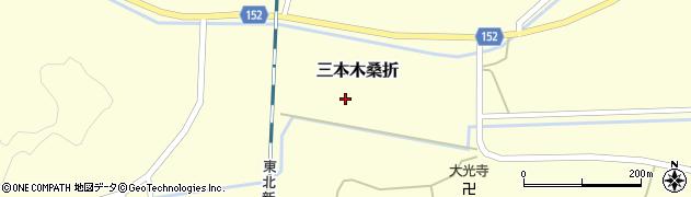 宮城県大崎市三本木桑折(桜木)周辺の地図