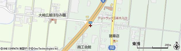 宮城県大崎市三本木(善並田)周辺の地図