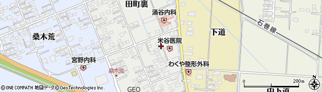 涌谷田町裏住宅周辺の地図