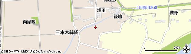 宮城県大崎市三本木蒜袋(経壇)周辺の地図