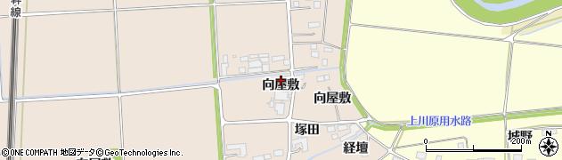 宮城県大崎市三本木蒜袋(向屋敷)周辺の地図