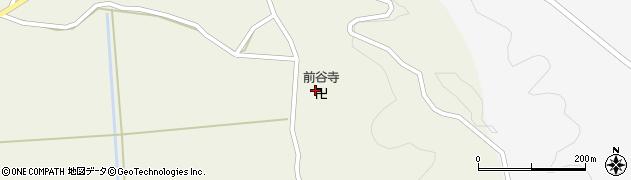 前谷寺周辺の地図