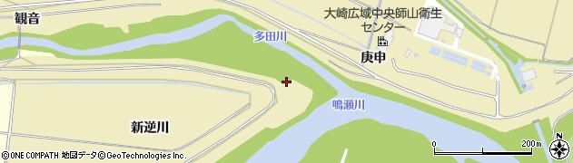 宮城県大崎市三本木上伊場野(北河原)周辺の地図