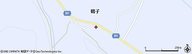 山形県尾花沢市鶴子868周辺の地図