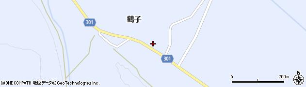 山形県尾花沢市鶴子883周辺の地図