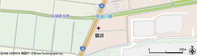 宮城県大崎市三本木蒜袋(鷺沼)周辺の地図