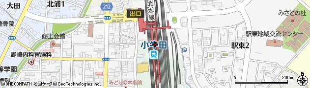 宮城県遠田郡美里町周辺の地図