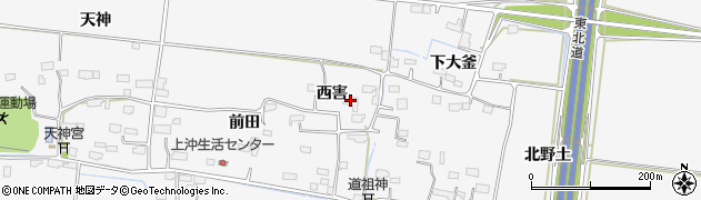 宮城県大崎市三本木新沼(西害)周辺の地図