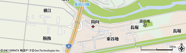 宮城県大崎市三本木蒜袋(筒向)周辺の地図