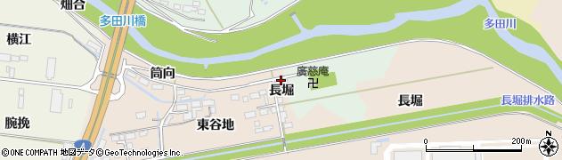 宮城県大崎市三本木蒜袋(長堀)周辺の地図