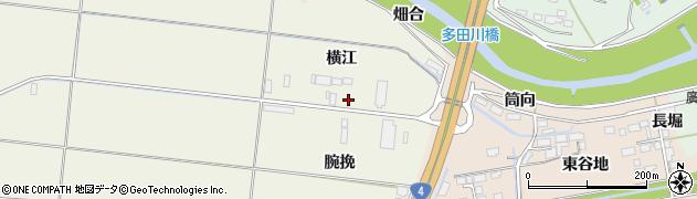 宮城県大崎市三本木高柳(横江)周辺の地図