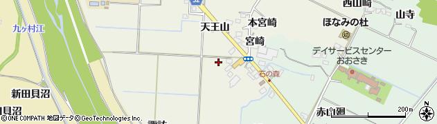 宮城県大崎市古川石森(諏訪)周辺の地図