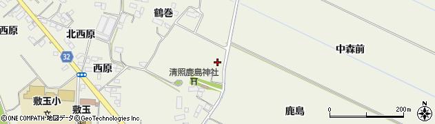 宮城県大崎市古川石森周辺の地図