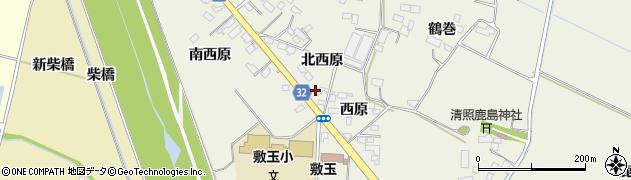 宮城県大崎市古川石森(西原)周辺の地図