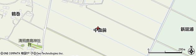 宮城県大崎市古川石森(中森前)周辺の地図
