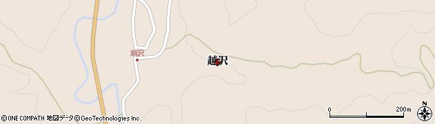 山形県鶴岡市越沢周辺の地図