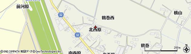 宮城県大崎市古川石森(北西原)周辺の地図