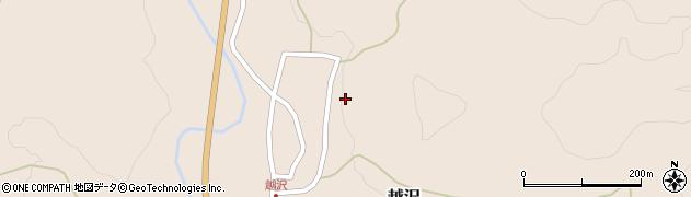 山形県鶴岡市越沢(乙)周辺の地図