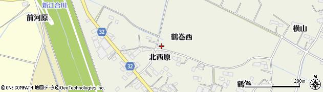 宮城県大崎市古川石森(鶴巻西)周辺の地図