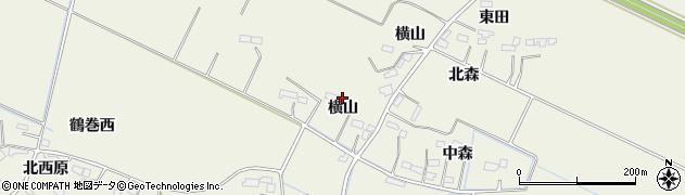 宮城県大崎市古川石森(横山)周辺の地図