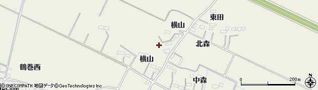 宮城県大崎市古川石森(横山西)周辺の地図