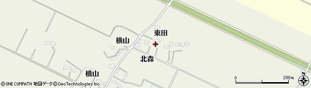 宮城県大崎市古川石森(北森)周辺の地図