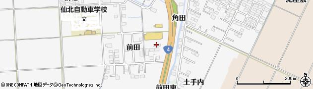 宮城県大崎市古川稲葉(前田)周辺の地図