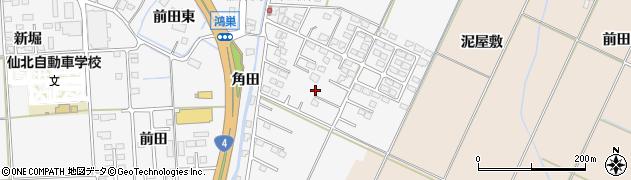 宮城県大崎市古川稲葉周辺の地図