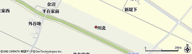 宮城県大崎市古川石森(川北)周辺の地図