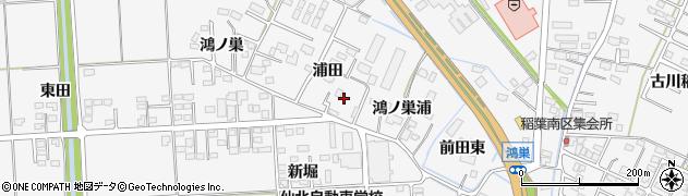 宮城県大崎市古川稲葉(浦田)周辺の地図